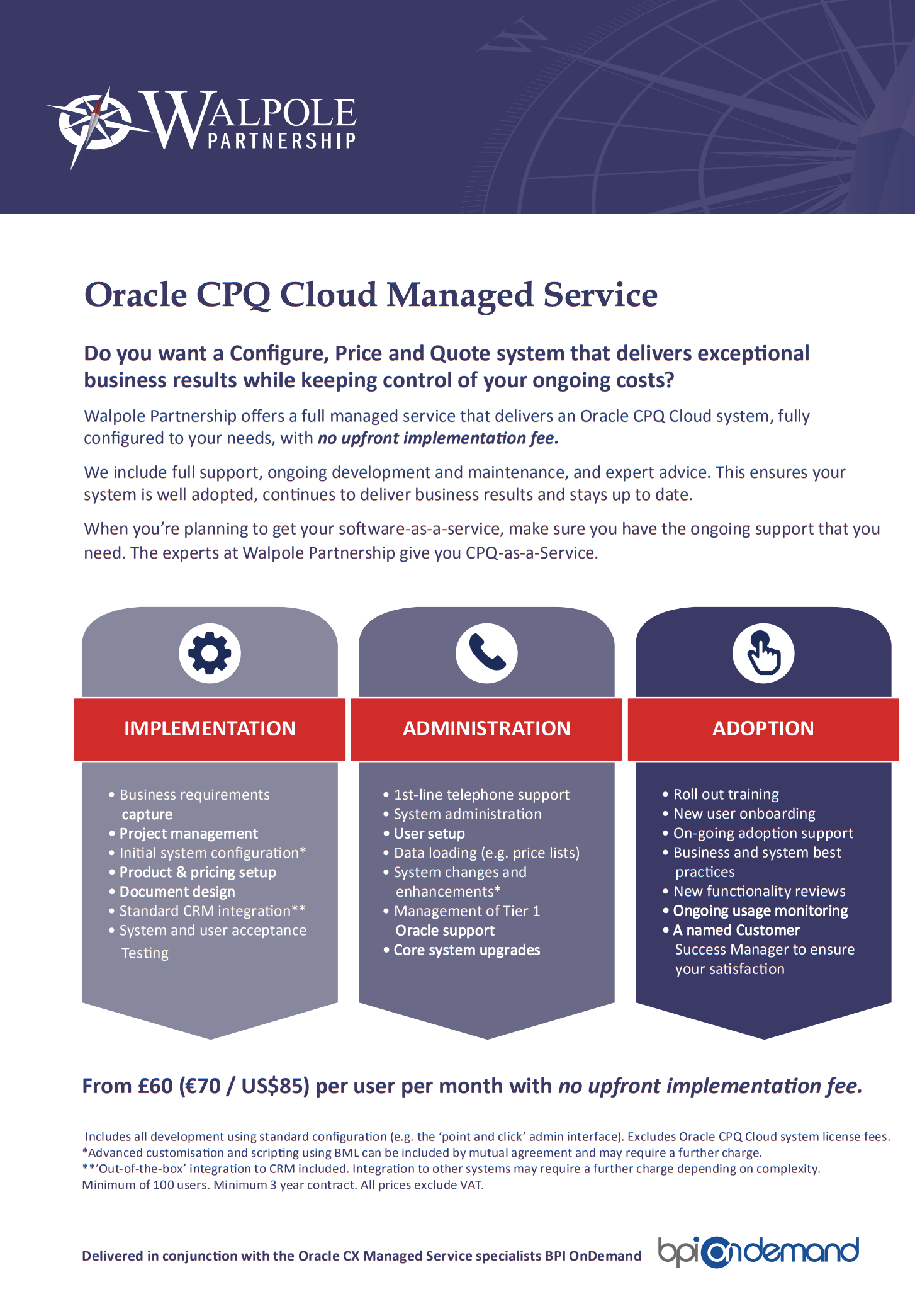Oracle CPQ System Implementation Experts - Walpole Partnership