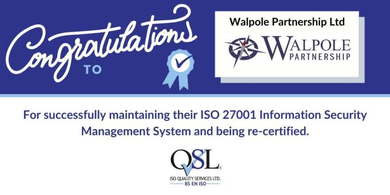 ISO 27001 Recertification