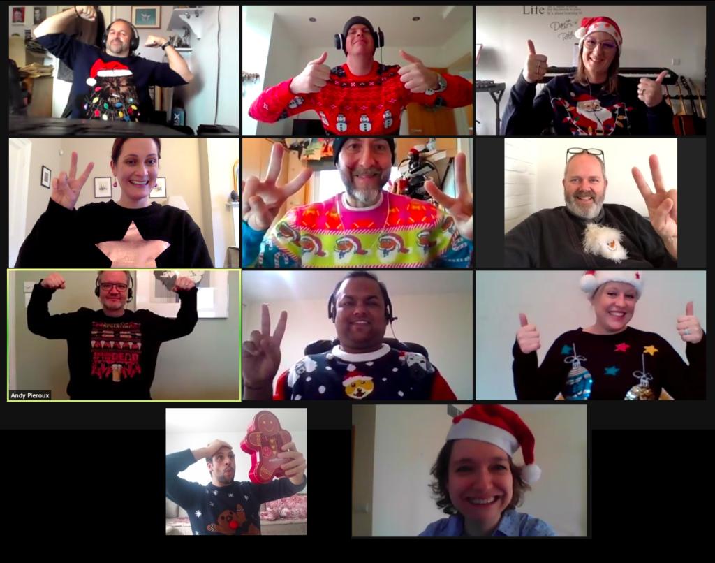 The Walpole Partnership team wearing Christmas Jumpers