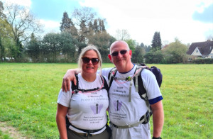 Supporting a sponsored walk for Sands